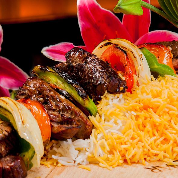 Filet Mignon Shish Kabobs - Bandar Restaurant, San Diego, CA