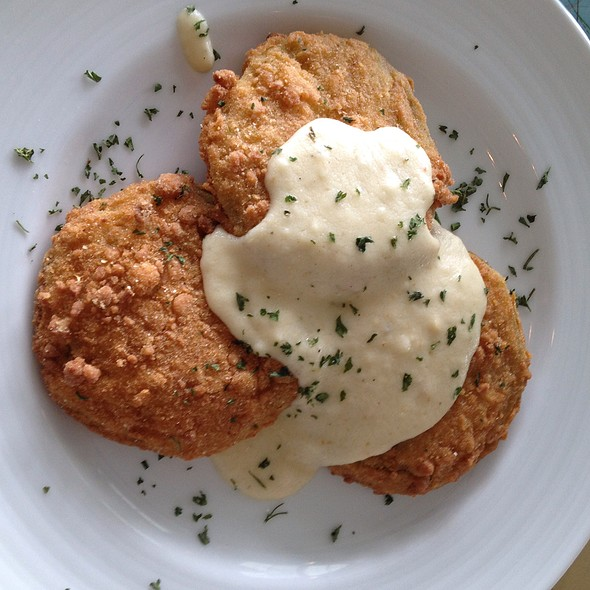 Fried Green Tomatoes - Charleston Harbor Fish House - Charleston Harbor Resort & Marina, Mount Pleasant, SC