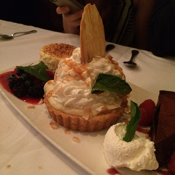 Coconut Cream Pie, Chocolate Tort, Cheesecake Brule' - The Capital Grille - Boston, Boston, MA