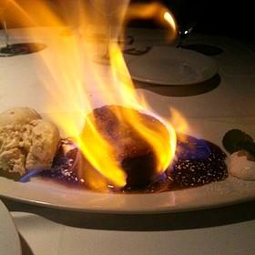 Flaming Pineapple Cake - Wildfish Seafood Grille - San Antonio, San Antonio, TX