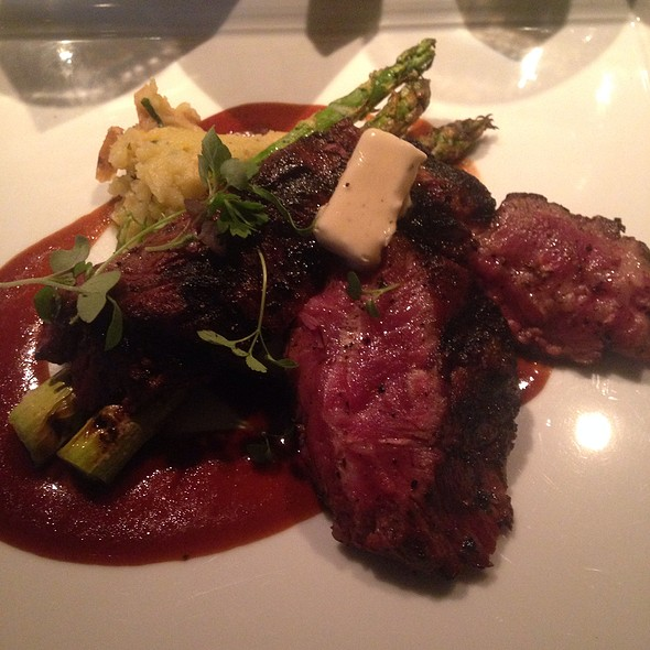 flat iron steak - Abacus, Dallas, TX