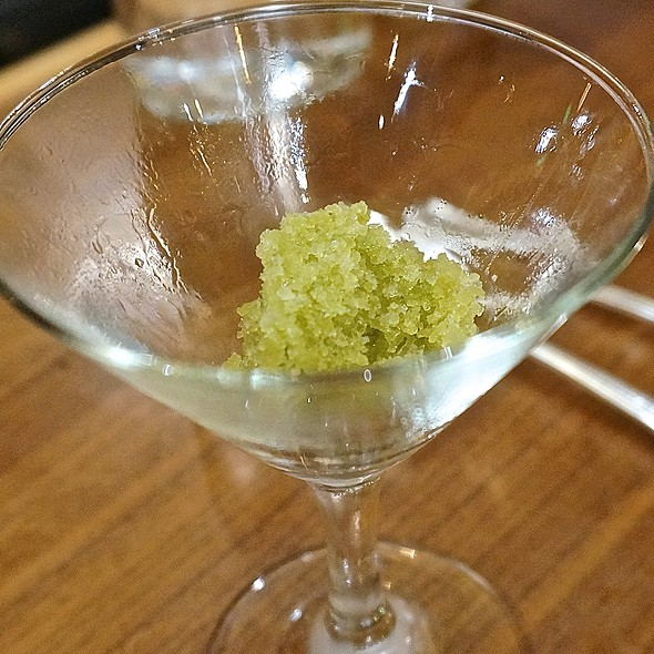 Intermezzo – basil, lemon, lime granita - Natural Selection, Portland, OR