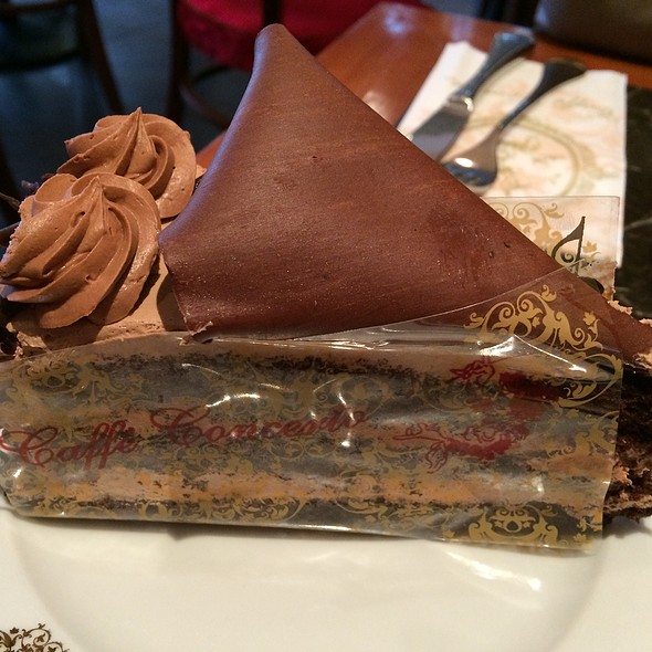 Chocolate Gateau - Caffe Concerto Kensington, London