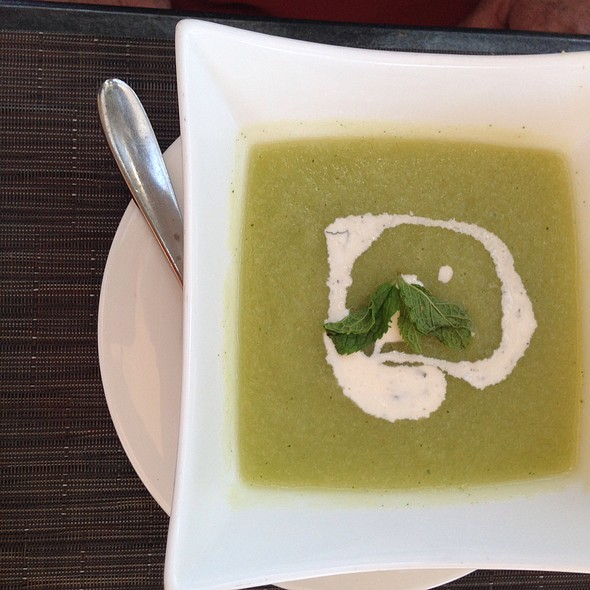 Chilled Melon And Cucumber Soup - The Oak Kitchen, Ojai, CA