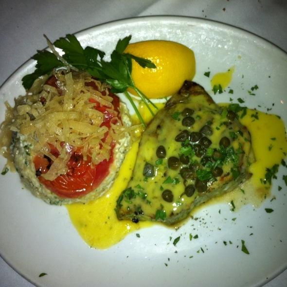 Swordfish Loin With Caramelized Onion Risotto - Avra Estiatorio on 48th, New York, NY