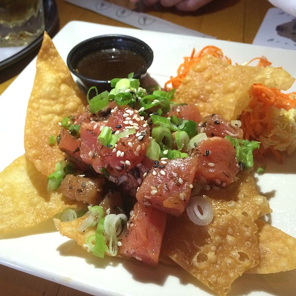 Ahi Poke Appetizer - Belmont Brewing Company, Long Beach, CA