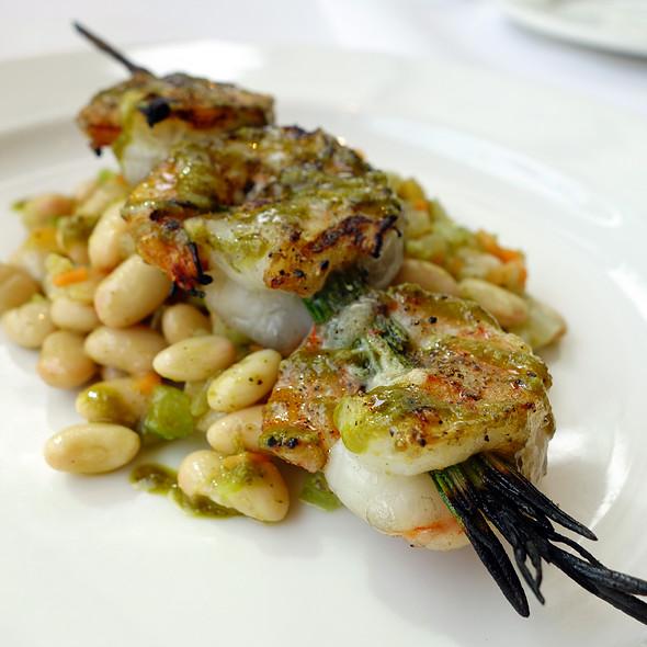 Pesto Shrimp Skewer - Freds Madison at Barneys New York, New York, NY