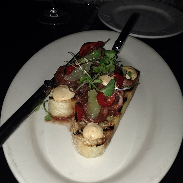 Braised Baby Octopus Bruschetta - Northeast Social