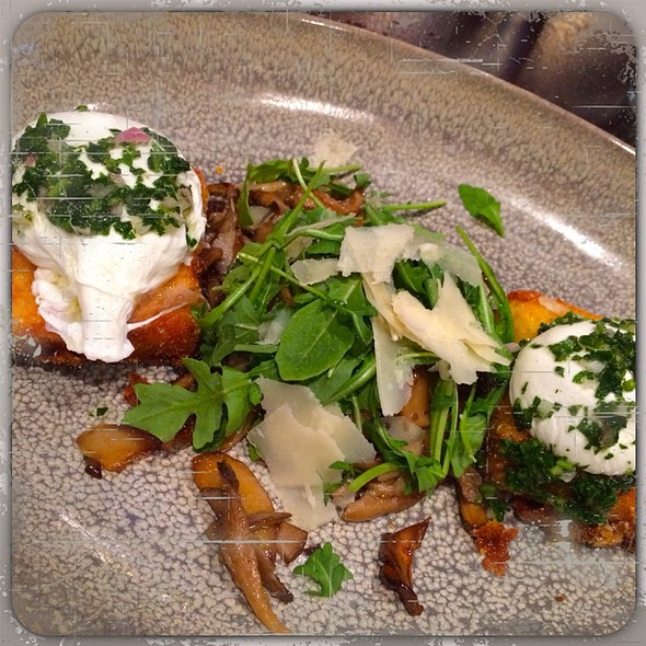 Crispy Polenta Cakes With Poached Eggs  - Park Tavern, San Francisco, CA