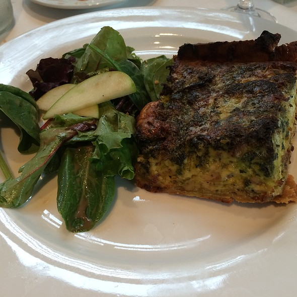Spinach Quiche Breakfast - Brasserie Max & Julie, Houston, TX