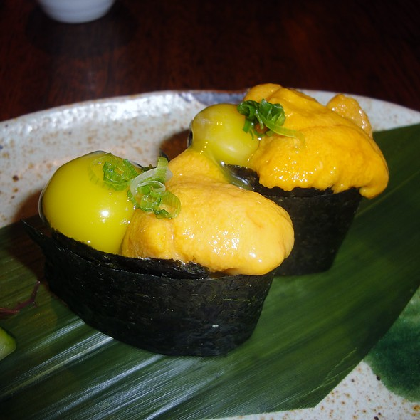 Uni Nigiri With Quail Egg - East by Southwest, Durango, CO