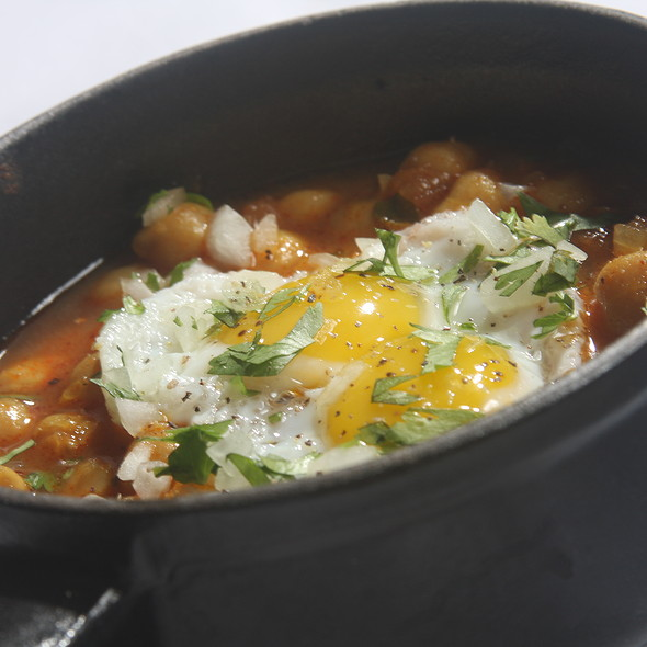 Punjabi Chickpeas with Quail Egg - Buffalo Club, Santa Monica, CA