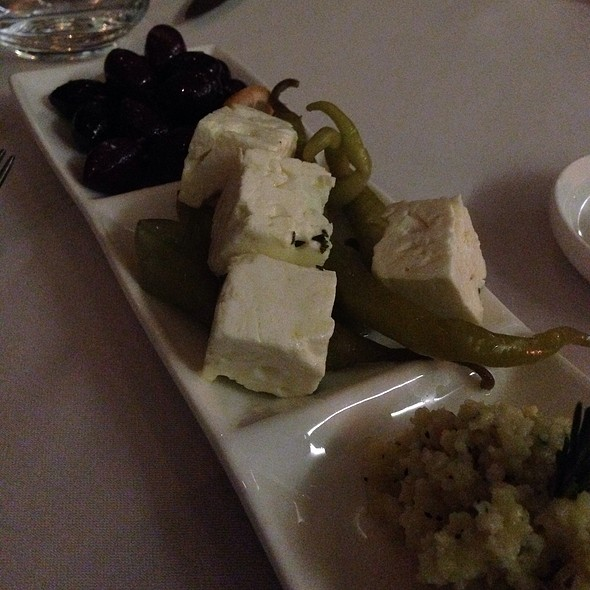 Colossal Kakamata Olives / Feta Pepperoncinni / Rissotto Asiago - Harbour Sixty, Toronto, ON