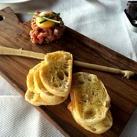 steak tartare - Sunset Terrace - Omni Grove Park Inn, Asheville, NC