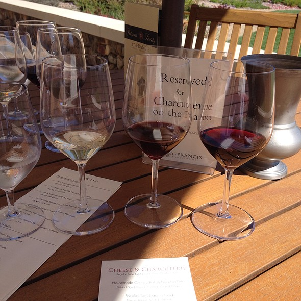 Wine Flight - St. Francis Winery & Vineyards, Santa Rosa, CA