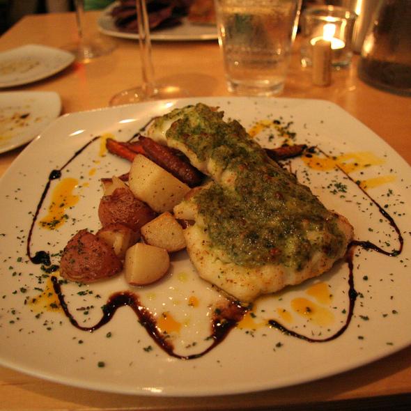 Pesto Encrusted Tilapia - Solo Bistro, Bath, ME