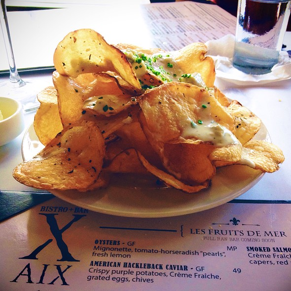 Blue Cheese Chips - Bistro Aix, Jacksonville, FL