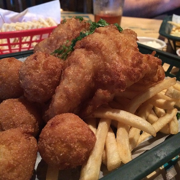 Fish & Chips With Hush Puppies - Tin Can Fish House, Atlanta, GA