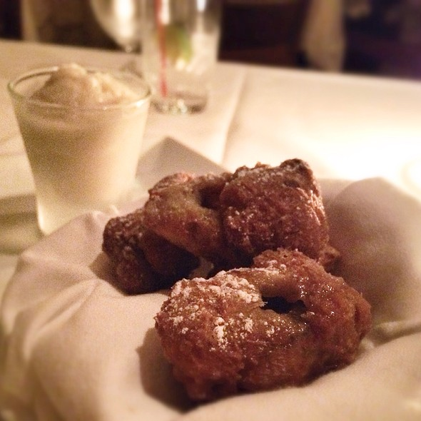 Pecan and Salted Butterscotch Beignets with Bourbon Milk Ice - Annisa, New York, NY