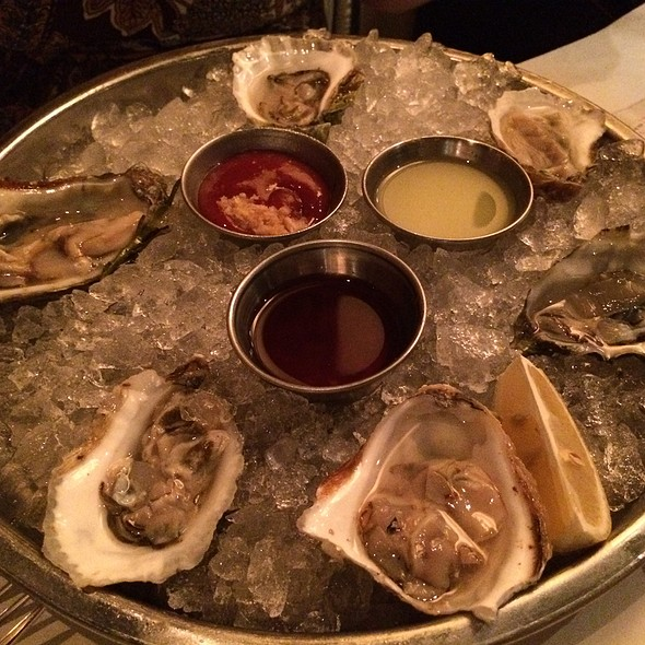 Variety of raw oysters - The River Oyster Bar, Miami, FL