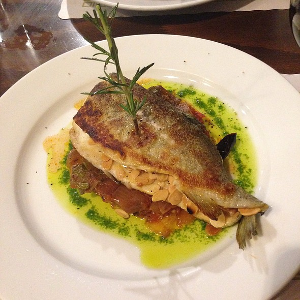 Trout Stuffed With Almonds With Ratatouille - Cafe Bastille - Miami, Miami, FL