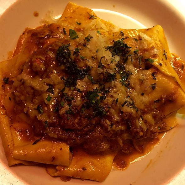 Pappardelle Bolognese With Shortrib - Branzino Restaurant, Seattle, WA