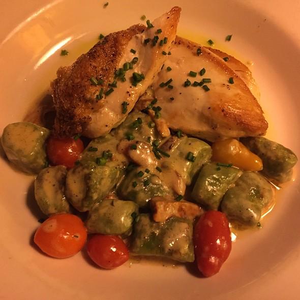 Chicken With Spinach Gnocchi - Branzino Restaurant, Seattle, WA