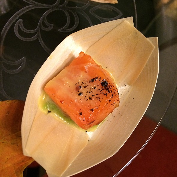 Salmon With Avocado Miso - brushstroke, New York, NY