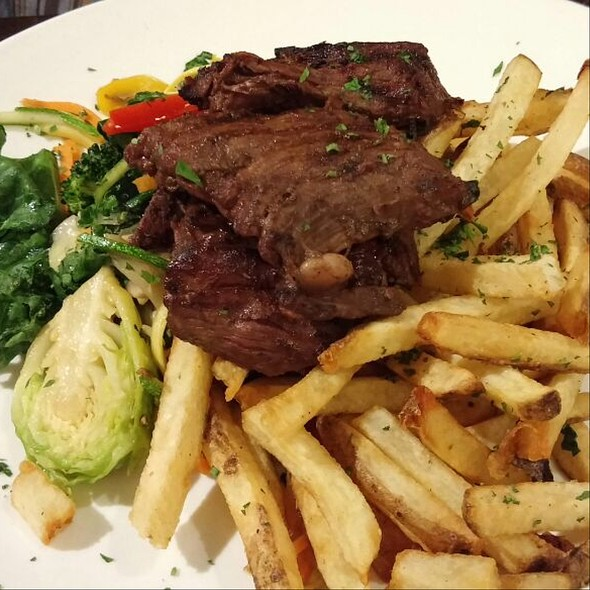 Angus Flank Steak And Fries - Cupping Room Cafe, New York, NY