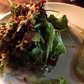 Petite Lettuce, Speck, Herb Vinaigrette, Pecan, Blue Cheese - Cucina 24, Asheville, NC