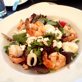 Grilled Shrimp Salad - Bistro Cacao, Washington, DC
