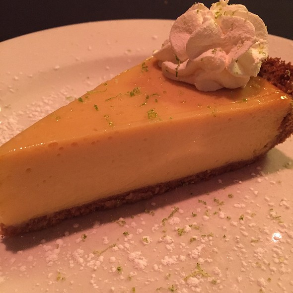 Key Lime Pie Topped With Key Lime Whipped Cream & Key Lime Cake - Sullivan's Steakhouse - Raleigh, Raleigh, NC