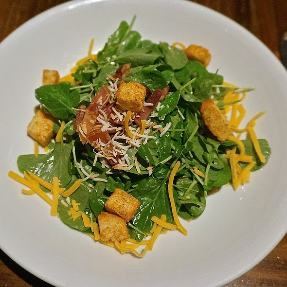 Watercress salad, bacon, cheddar, pimenton crouton, meyer lemon coconut vinaigrette - Luminaria Restaurant & Patio, Santa Fe, NM