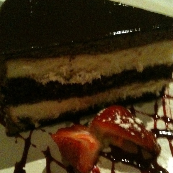 Cheesecake And Chocolate Cake Layered - Fiamma Grille, Plymouth, MI