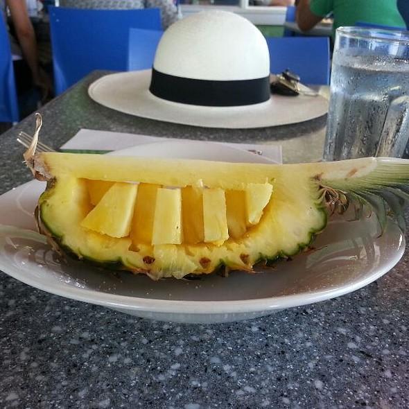 Fresh Maui Pineapple Boat  - Mala Ocean Tavern - Lahaina, Lahaina, HI