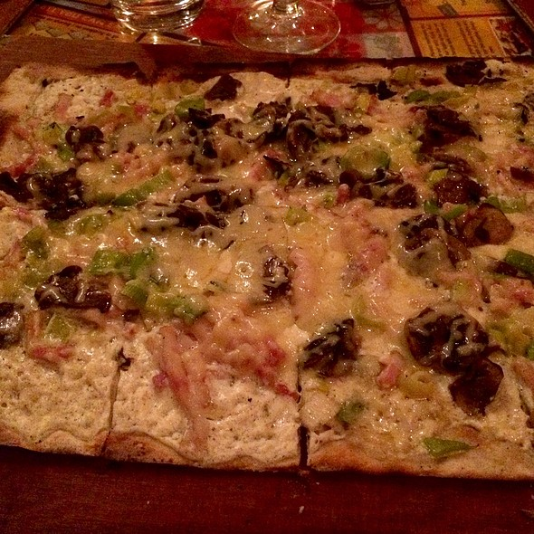 Leek, Bacon, Mushroom - La Tarte Flambee - Upper East Side, New York, NY