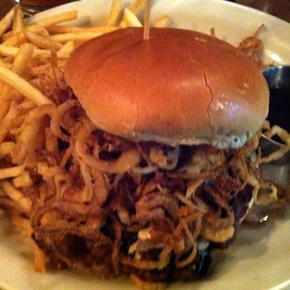 Bourbonzola burger - Rock Bottom Brewery Restaurant - Denver, Denver, CO