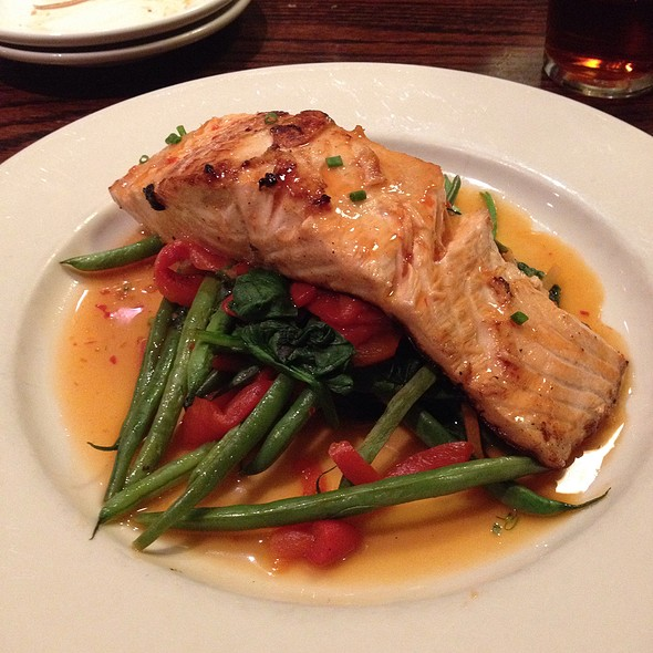 Bourbon And Ale Salmon - John Harvard's Brewery and Ale House, Framingham, MA