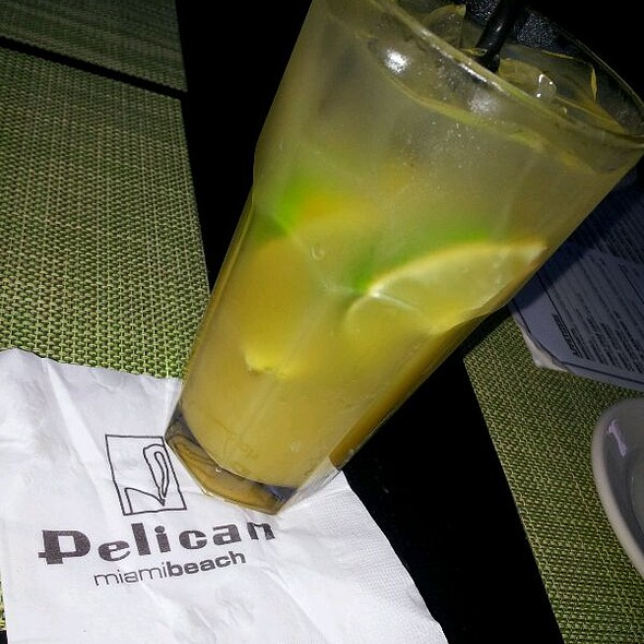 Mango Peach Caipirina - The Pelican Cafe, Miami Beach, FL