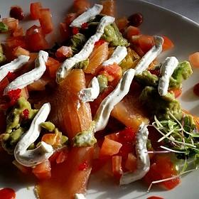 Smoked Salmon On Potato Pancakes - The Settlers Inn, Hawley, PA