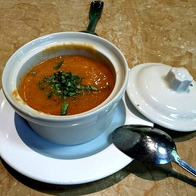 Tomato Basil Soup - Nundini Chef's Table, Houston, TX