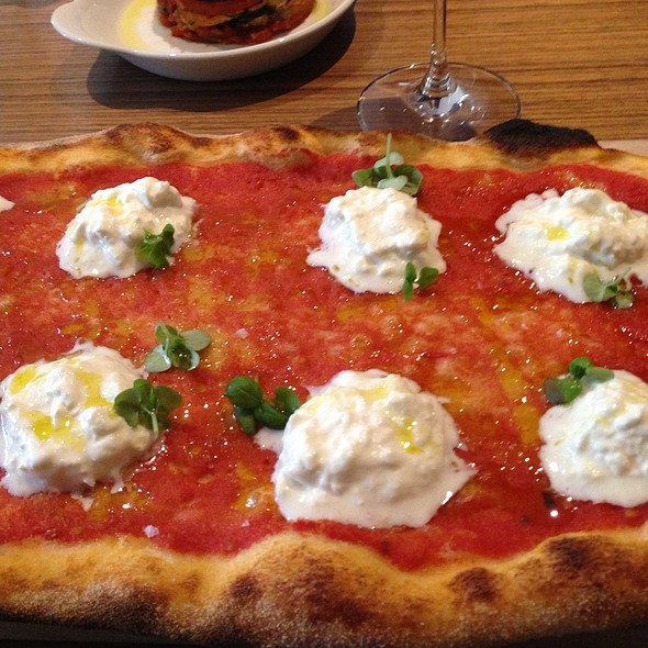 Burrata Pizza - Buca Yorkville, Toronto, ON