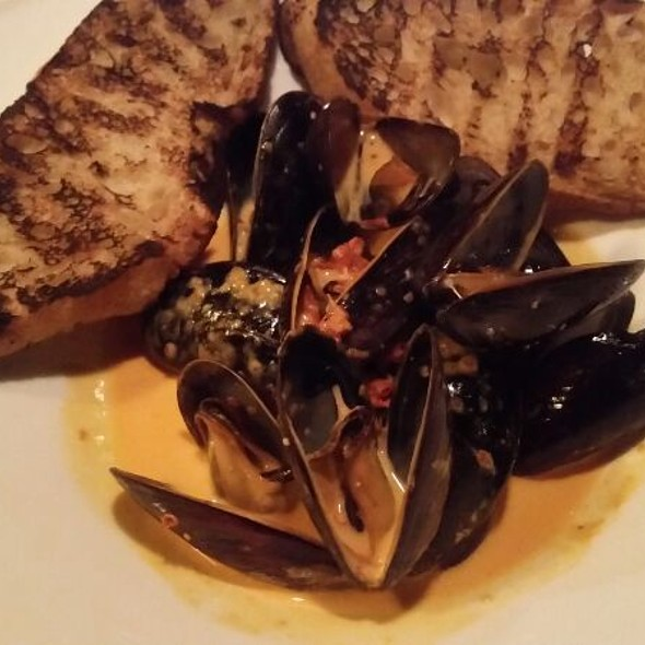 Mussels with Smoked Paprika Cream and Grilled Bread - American Grocery Restaurant, Greenville, SC