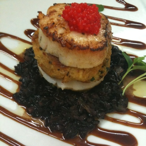 Scallop Stuffed Crabcake - The Oar Steak and Seafood Grill, Patchogue, NY