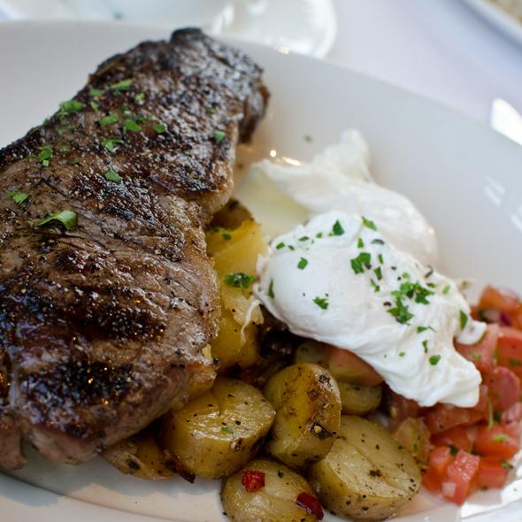 New York Steak and Poached Eggs - EPIC Steak, San Francisco, CA