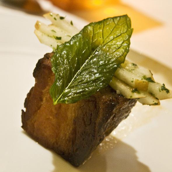 Pork Belly - Carillon Restaurant, Austin, TX