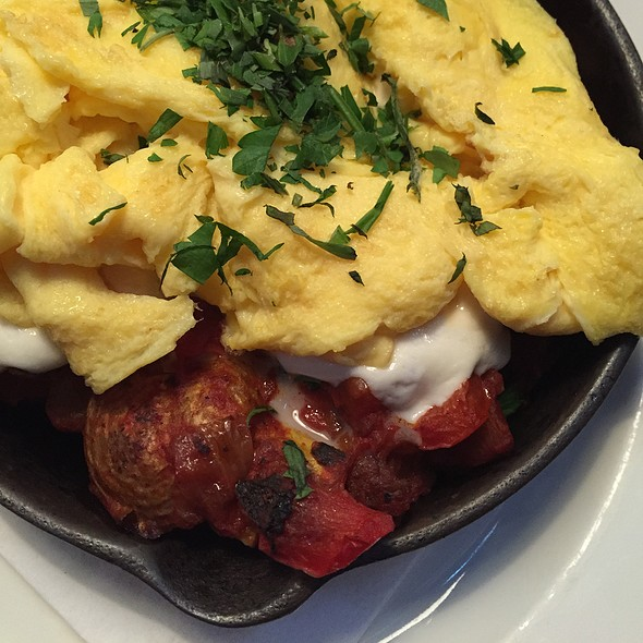 Scrambled Eggs And Ratatouille Skillet - Harlan Social, Stamford, CT