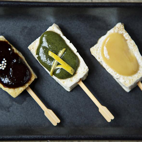 samurai tofu w/ 3 miso sauces   - Perrys, Washington, DC