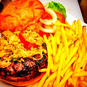 Surf and Turf Burger - Indulge Bistro and Wine Bar - Golden, Golden, CO