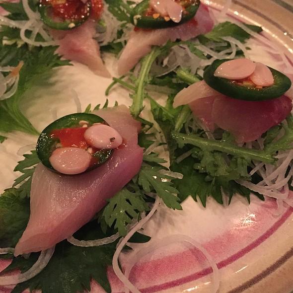 Hamachi Shiso Jalapeno - BlueFin Japanese Restaurant, San Jose, CA
